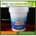 Revêtement en caoutchouc liquide imperméable de polyuréthane à base d'eau de composant simple