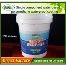 Material de impermeabilización de pintura de poliuretano a base de agua para impermeabilización