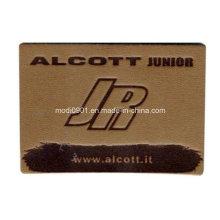 Embossed Jean Patch Leather Label Custom OEM Brown Leather Patches Black Square Leather Patch
