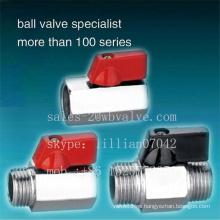 Mini válvula de bola de latón Precio Pn-25 Mini válvula de bola