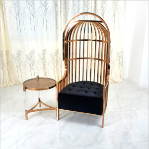European-style cage stainless steel single chair