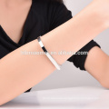 hot Sell Natural Aquamarine seed beads silver plated bracelet for women