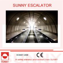 Escaleras mecánicas pesadas con ranuras antideslizantes y cubierta interna sin tornillos, Sn-Es-D035