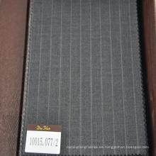 Tejido de lana 100% de color gris y azul oscuro para usar en negocios