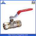 Fin de compression à boule en laiton en laiton forgé (YD-1039)