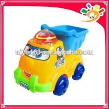 Cute Pull Line Cartoon Truck Toy,Plastic Cartoon Truck With Light