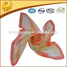 Fashion New Design Print Long 100% Soie en mousseline de soie Couleurs assorties Foulards en soie Paypal