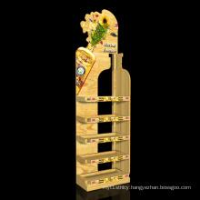 Manufacture Custom Retail Wooden MDF Wine Display Rack