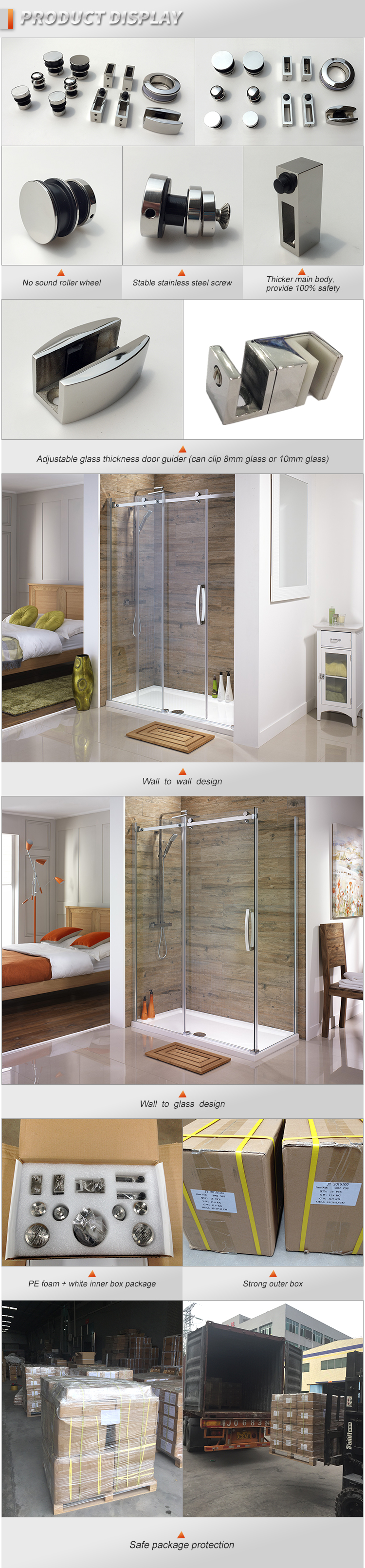 Shower Room Sliding Door Hardware