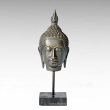Buda Escultura de Bronce Gautam / Sakyamuni Cabeza Deco Latón Estatua Tpwy-026
