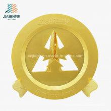 Kostenlose Probe aushöhlen Custom Gold Commemorate Fach mit Halter