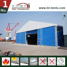 Warehouse Tent with a Roller Shutter Door for Sale