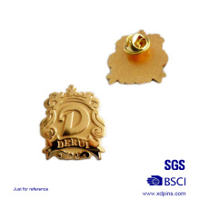 Promotion Gold Plating Custom Metal Lapel Pin Badge
