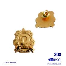 Crachá feito sob encomenda do Pin da lapela do metal do chapeamento de ouro da promoção