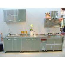 Cabinets de cuisine en acier inoxydable fort # 304