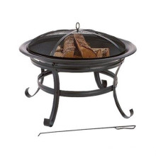 Four Seasons Courtyard Steel 30-Inch Round Brazier in