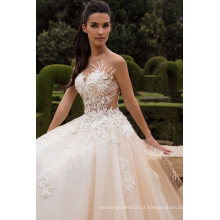 Sexy Feshion Beading Lace Ball vestido de noiva