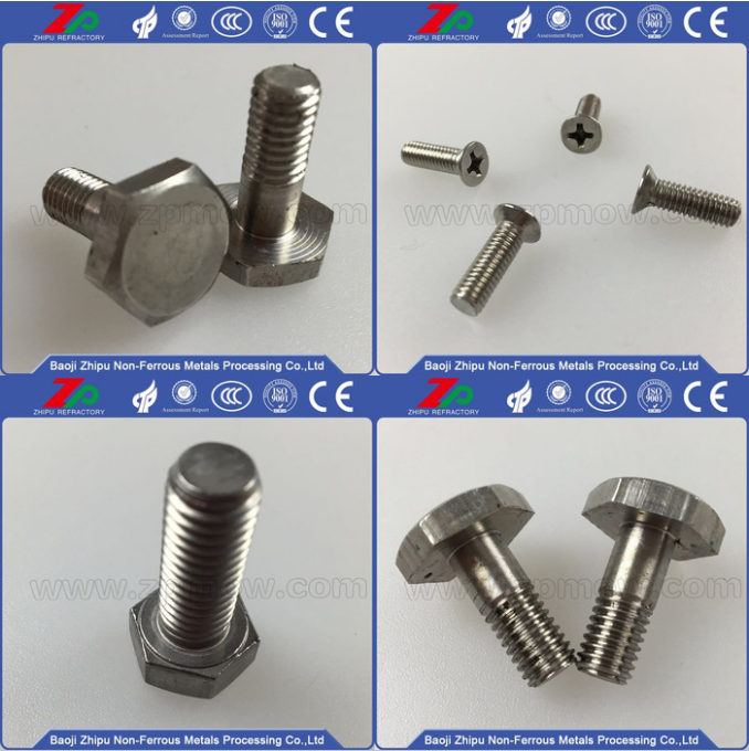 Hot sale customized 99.95% purity Molybdenum Bolt Nut Screw