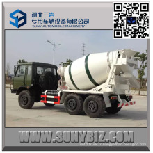 DFAC CUMMINS Engine 4 Cbm de camion de mélangeur de ciment de route