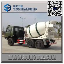 DFAC CUMMINS Engine 4 Cbm fora do caminhão do misturador de cimento da estrada