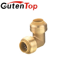 "1"" Push To Connect x 1"" FNPT Elbow Fitting, Lead-Free Brass"