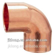Encaixe de tubulação de cobre cotovelo de 90 graus para refrigerador e ar condicionado