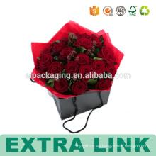 Cortar cajas de papel de encargo de embalaje de moda para flores