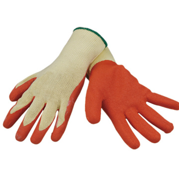 White Cotton Work Gloves Coated with Latex
