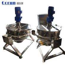 Chaleiras de cozimento industriais do vapor Jacketed dobro de aço inoxidável de 200 litros para a venda