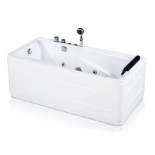 Acrylic Corner Freestanding Jetted Bathtub