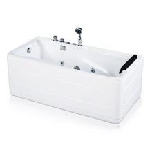 Bañera de hidromasaje de esquina de acrílico independiente