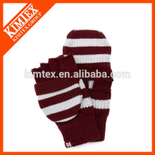 Acrylic knit crochet flip pop top glove