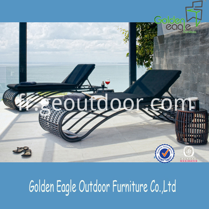 PE Wicker Double Beach Chair