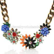 Colorful Acrylic Resin Beads Inlay Alloy Accessories Choker Necklace