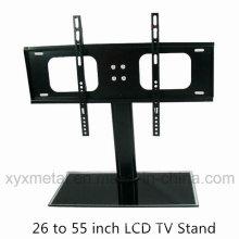 Gehärtetes Glas-Basis-Fernsehen-Halterung Mount Rack TV-Ständer