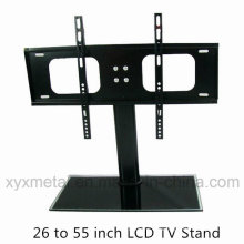 Support de télévision à base de verre trempé Support Rack Stand TV