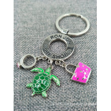 Promotional Custom Metal Pendents Charms Key Ring / Keychain