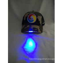 custom camo mesh baseball cap LED baseball cap