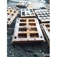Plaque de moulage à haute teneur en manganèse de Metso Jaw Crusher