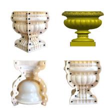 high quality cement decorative round ABS flowerpot mould concrete flowerpot molds