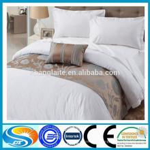 Venda quente no hotel 100% algodão cama conjuntos cama tecido tela de folha de cama