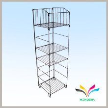 Supermarket foldable metal wire pillow display rack