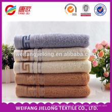 Boa qualidade Barato Made in China borda cetim toalha toalha de terry com maquineta fronteira