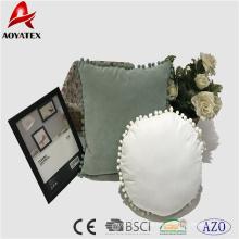 Amortiguador redondo de encargo caliente de la almohada de la silla del pom pom de la moda de la venta