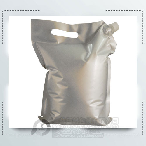 aluminium oil pouch with handle