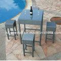 Открытый Используется PE Rattan Садовая мебель Бар Председатель (GN-8678D)