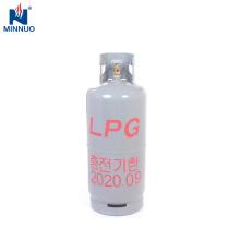 Corea del Sur 20 kg lpg cilindro, almacenamiento grande, uso en el hogar