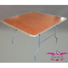 Table de banquet carré pliante en bois