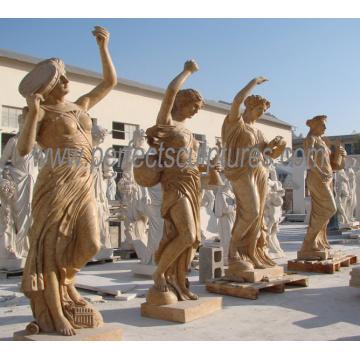 Tallando la estatua de piedra de mármol de la escultura para la decoración del jardín (SY-X1317)