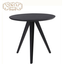 Conception en gros de table de salle à manger ronde en bois de meubles de restaurant